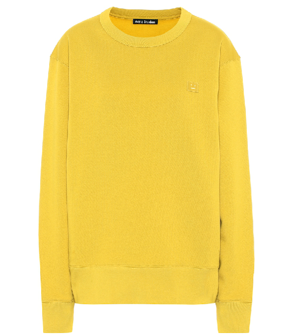 Acne Studios Fairview Fleece-Back Cotton-Jersey Sweatshirt In Yellow