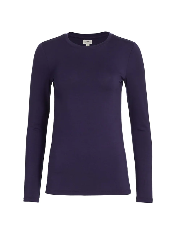 L Agence Women's Tess Crewneck Long-sleeve T-shirt In Midnight