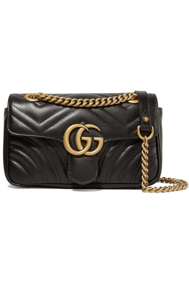 Gucci Mini Gg Marmont 2.0 MatelassÉ Leather Shoulder Bag In 1000  Black