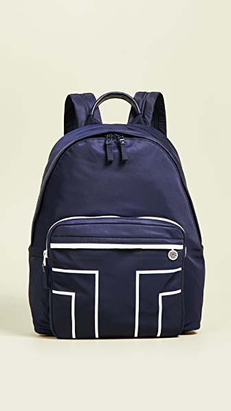 Tory Sport Nylon Graphic-t Backpack In Navy Blue