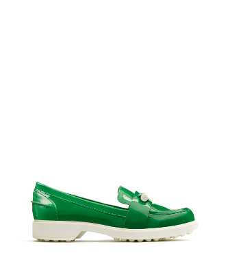 Tory Sport Pocket-tee Golf Loafers In Court Green