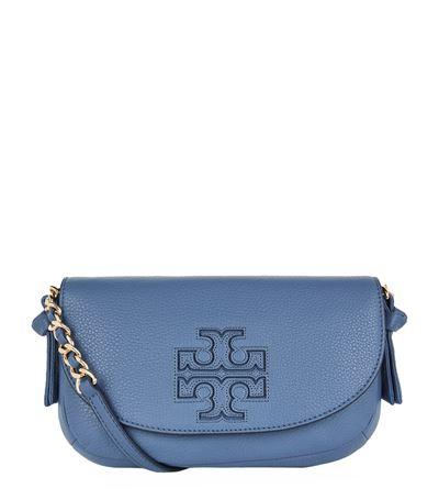 151c7e402a8 Tory Burch Harper Mini Cross Body Bag In Blue