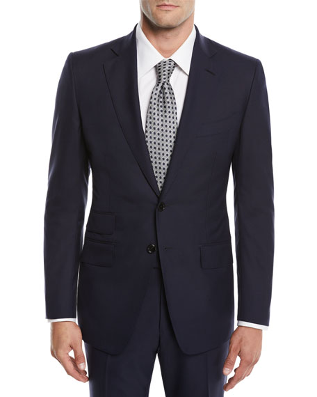Tom Ford Men's O'Connor Pinpoint Melange Two-Piece Suit In Navy
