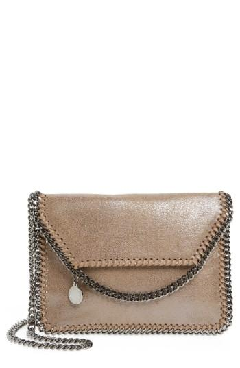 dd40ad987740 Stella Mccartney  Mini Falabella  Faux Leather Crossbody Bag - Brown ...