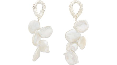 Alighieri The Cascading Affair Earrings In Silver/White