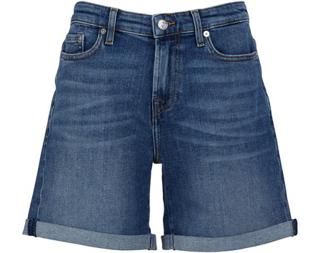 7 For All Mankind The Boy Shorts In Rooftop