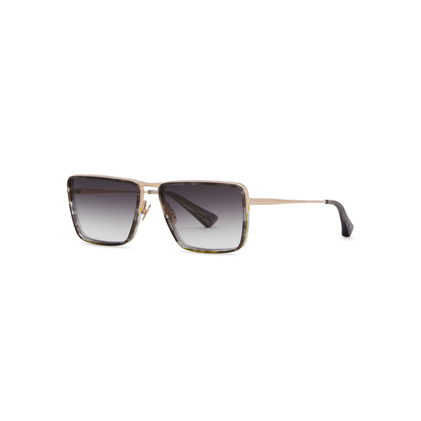 Christian Roth Line-type Square-frame Sunglasses In Brown