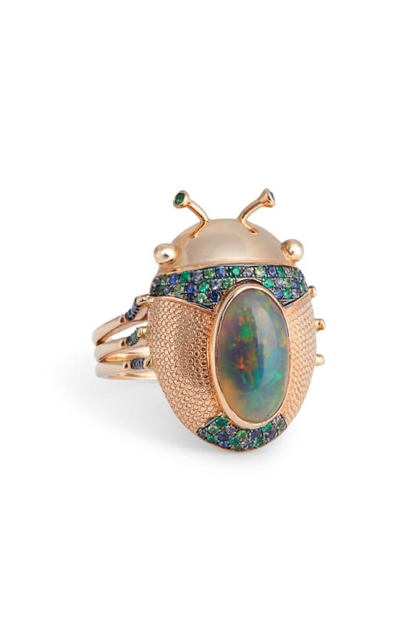 Daniela Villegas Mini Catarina Ring In Pink Gold