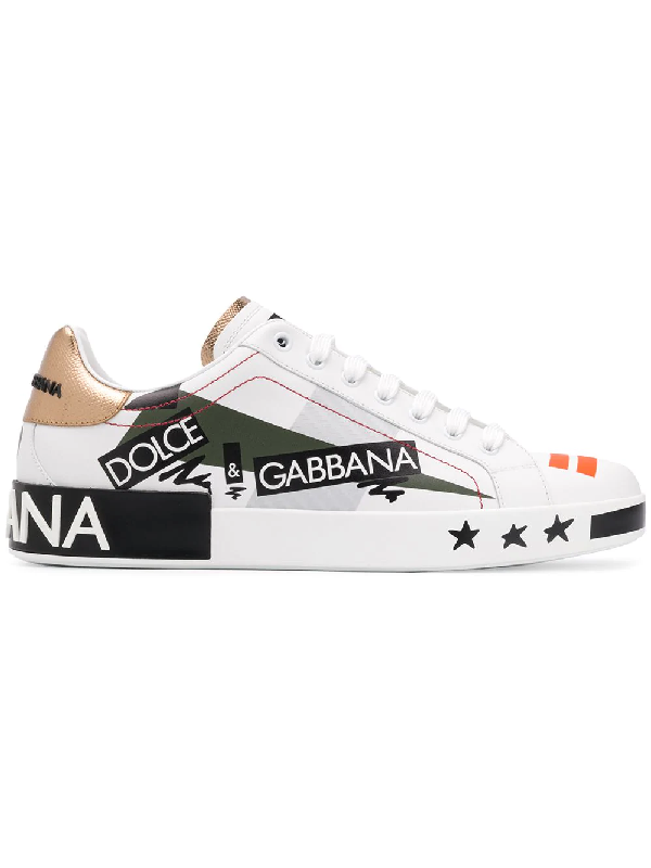 1c8957d44d Dolce & Gabbana Sneakers Portofino In Printed Calfskin White Color ...