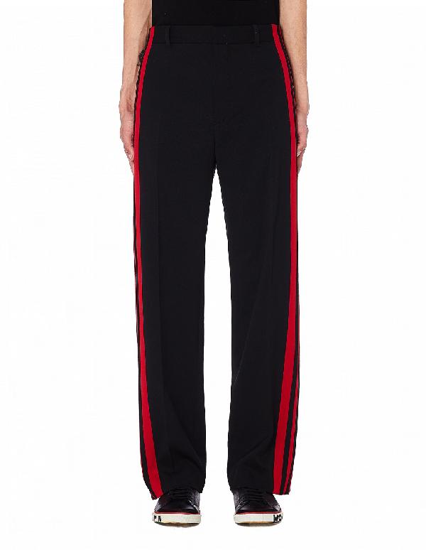 Balenciaga Black & Red Trousers