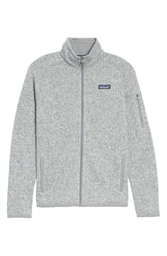 Patagonia Better Sweater Fleece Jacket In Birch White