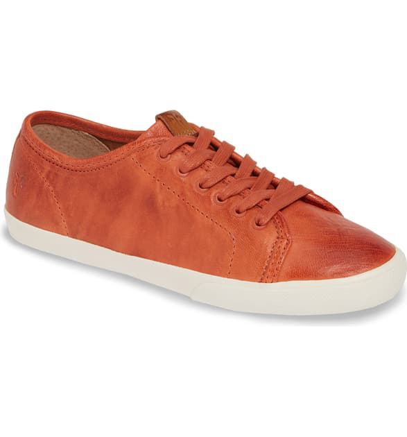 Frye Maya Low Top Sneaker In Sunset Orange