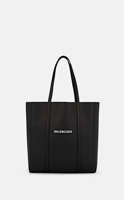 Balenciaga Everyday Mini Printed Textured-Leather Tote In Black