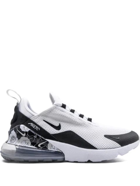 Nike Air Max 270 Se Floral Sneakers In White/Black