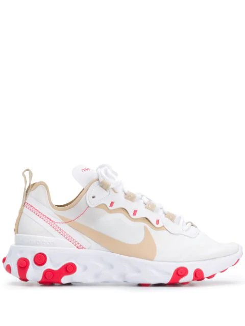 Nike Women's React Element 55 Casual Shoes, White - Size 8.5 In 101 White Beige