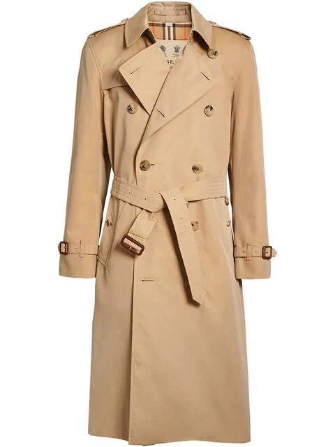 Burberry The Kensington Check-lined Cotton Trench Coat In Neutrals
