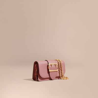 a1b3ec6c0f Burberry Mini Buckle Calfskin Leather Bag - Pink In Dusty Pink ...
