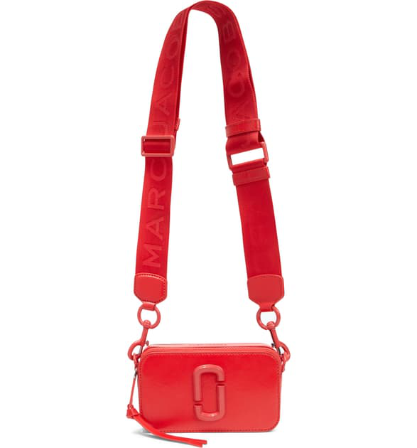 Marc Jacobs Snapshot Leather Crossbody Bag - Red In Geranium