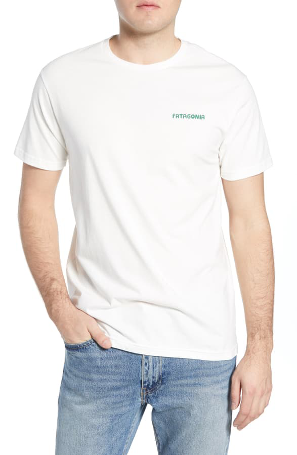 Patagonia Stand Up Graphic Organic Cotton T-Shirt In White