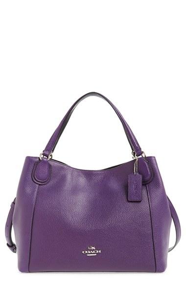 32004042fef4 Coach Edie 28 Shoulder Bag In Polished Pebble Leather In Violet ...