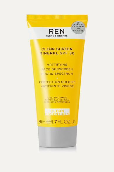 Ren Clean Skincare Clean Screen Mineral Mattifying Face Sunscreen Spf30, 50ml In Colorless