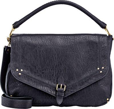 JÉRÔMe Dreyfuss Virgile Black Leather Shoulder Bag