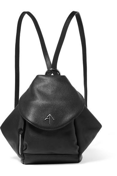 59cc711e9859 Manu Atelier Fernweh Mini Leather Backpack In Black