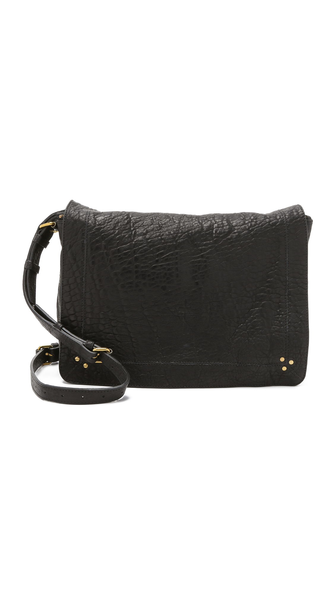JÉRÔMe Dreyfuss Albert Bubble Lambskin Handbag In Black