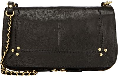 JÉRÔMe Dreyfuss Bobi Textured-Leather Shoulder Bag In Black