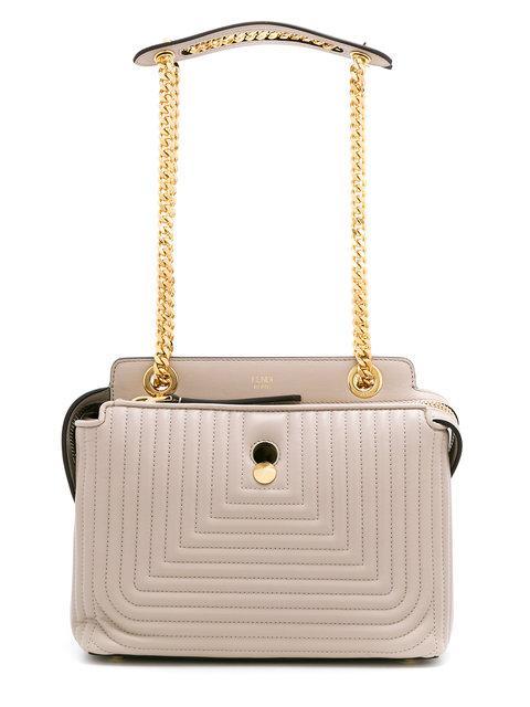 653f62ef3621 Fendi Dotcom Click Medium Quilted Chain Shoulder Bag