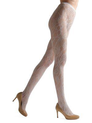 Natori Women's Lace Cut-out Net Tights Hosiery In Ivory
