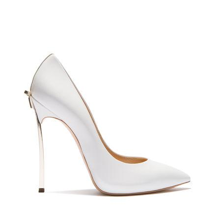Casadei Blade In White And Paled Gold