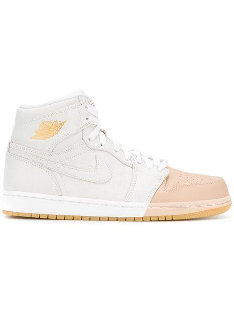 Jordan Air  1 Retro Sneakers In White