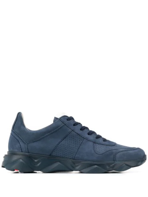 Lloyd Perforated Lace-up Sneakers In Blue