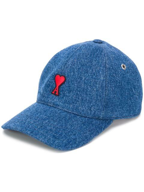 Ami Alexandre Mattiussi Baseball Cap With Ami De Coeur In 480 Bleu Used