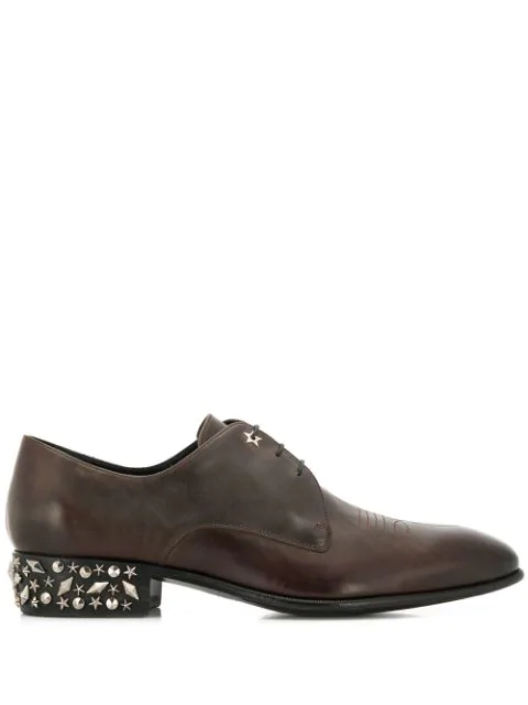 Jimmy Choo Jackson Lace-up Shoes In Brown