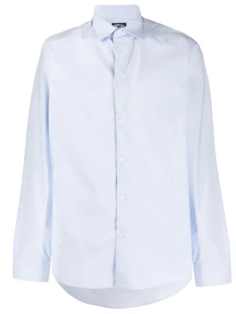 Kenzo Men's Long Sleeve Shirt Dress Shirt In Blue