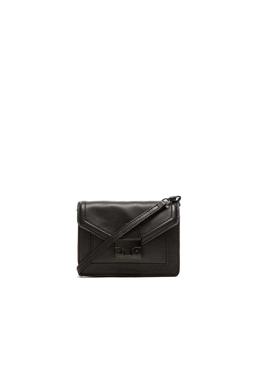 Loeffler Randall Double Pouch Cross Body Bag In Black