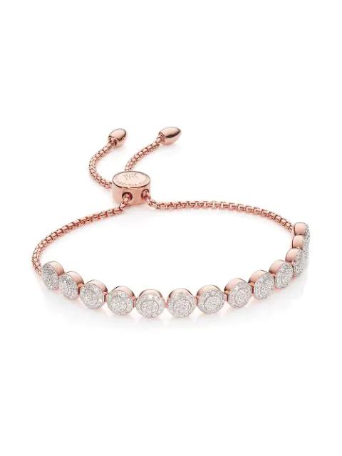 70e738cdf7372 Monica Vinader Rp Fiji Mini Button Chain Bracelet - 13 Beads - Diamond -  Pink