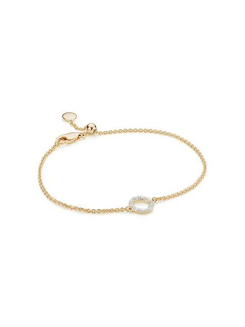 9d625c0eeea39 Monica Vinader Riva Mini Circle Diamond Bracelet - Gold