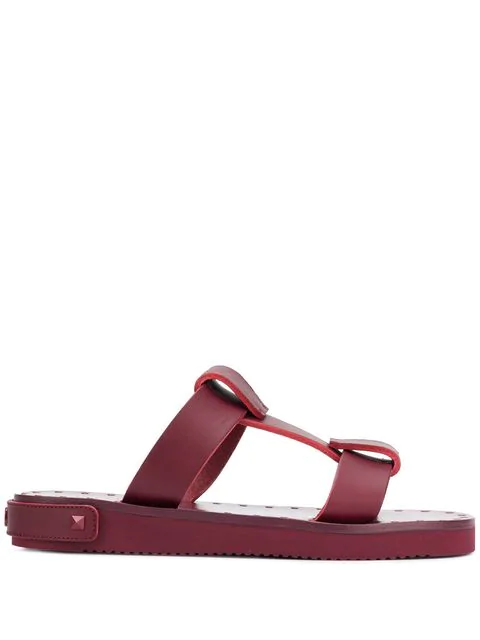 Valentino Garavani Slide Sandals - Red
