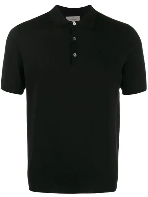 Canali Classic Polo Shirt In Black