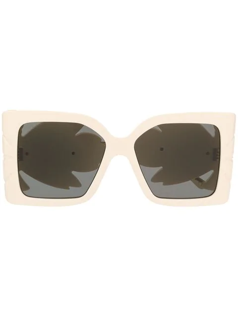 Gucci Oversized Square Sunglasses In 002 Ivory