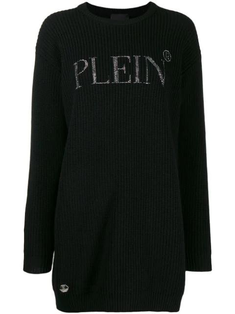 Philipp Plein Crystal-embellished Jumper In Black