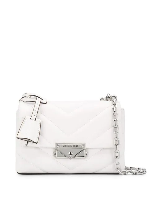 Michael Michael Kors Quilted Cross Body Bag In 085 Optic White
