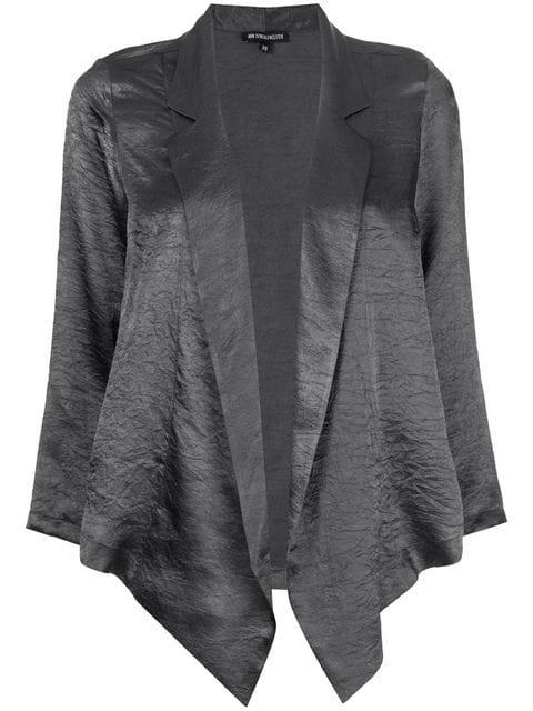 Ann Demeulemeester Cardigan Im Wickel-design In Grey
