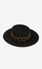 Saint Laurent Andalusian Hat In Felt In Black