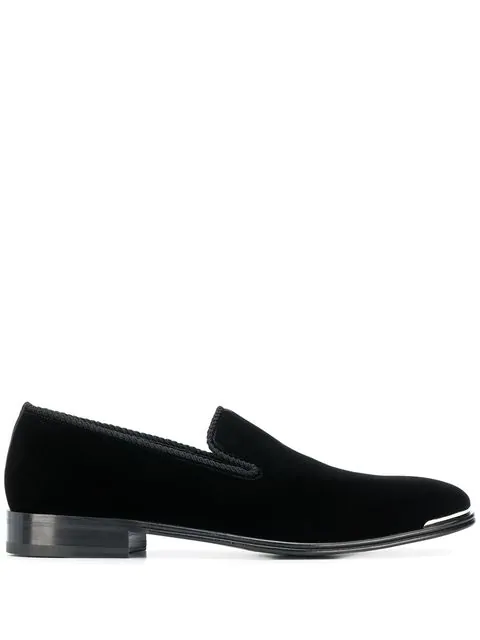 Alexander Mcqueen Men's Calf Suede Slip-On Dress Shoes In Black