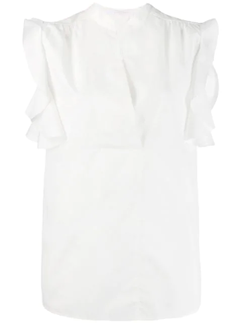 See By Chloé Ruffled Sleeve Blouse In White