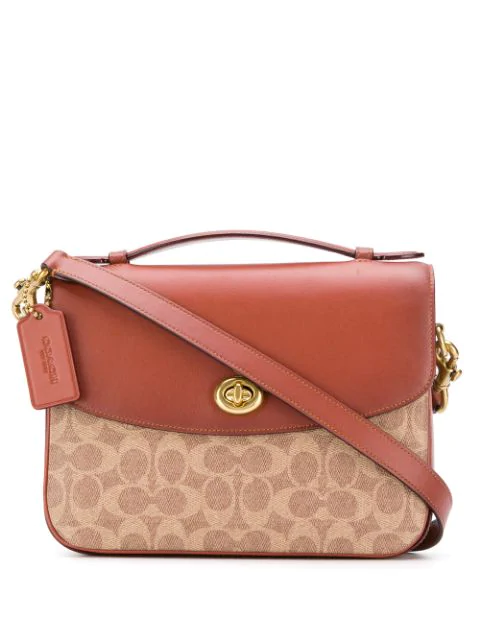 Coach Cassie Signature Canvas & Leather Crossbody Bag In Brown